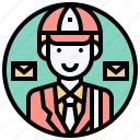 delivery, mailbox, mailman, post, service icon