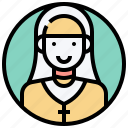 catholic, christian, nun, prayer, sister icon