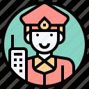 guard, lieutenant, patrol, police, security icon