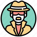detect, detective, evidence, investigation, spy icon