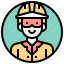 engineer, industry, manufactory, mechanic, supervisor icon