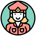 cop, criminal, officer, police, woman icon