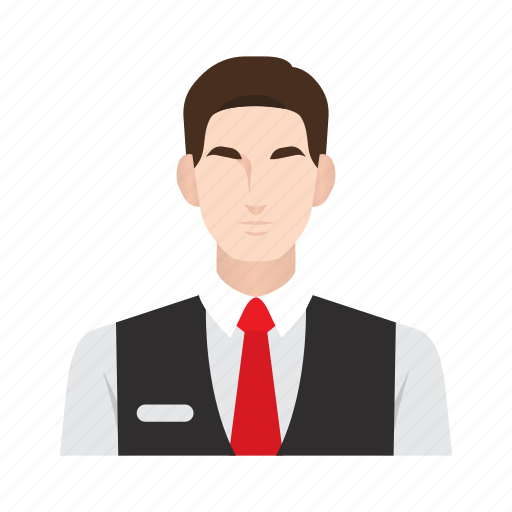 bellboy, job, man, occupation, people, receptionist, waiter icon