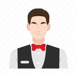 bellboy, job, man, occupation, people, receptionist, waiter icon
