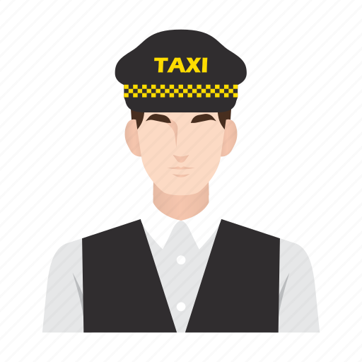 cab, driver, job, man, occupation, people, taxi icon