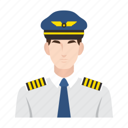 airplane, flight, job, man, occupation, people, pilot icon