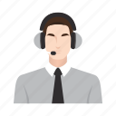 call center, customer service, job, man, occupation, people icon