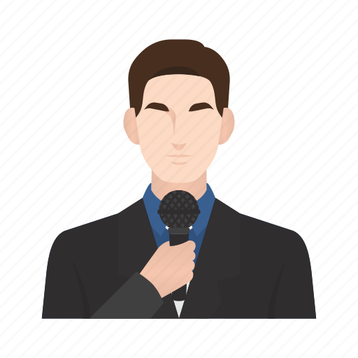 job, man, news, news anchor, occupation, people, reporter icon