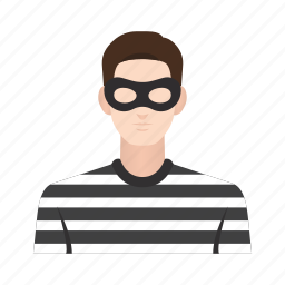 criminal, hacker, job, man, occupation, people, thief icon