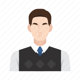 business, job, lecturer, man, occupation, people, student icon