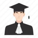 education, graduation, job, lecturer, man, occupation, people icon