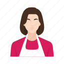 female, housemaid, job, occupation, people, wife, woman icon