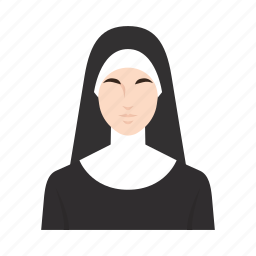church, job, nun, occupation, people, religion, woman icon