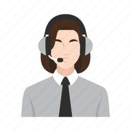 business, call center, customer service, job, occupation, people, woman icon
