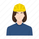 business, construction, job, occupation, people, woman, worker icon