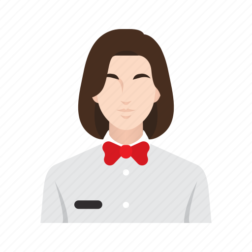 business, job, occupation, people, restaurant, waitress, woman icon