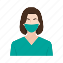 doctor, job, medical, occupation, people, surgeon, woman icon