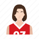 basketball, girl, job, occupation, people, sport, woman icon