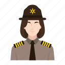criminal, job, occupation, people, police, sheriff, woman icon