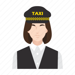 cab, driver, job, occupation, people, taxi, woman icon