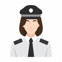 job, occupation, people, police, police officer, police woman, woman icon