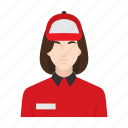 courier, delivery, delivery girl, job, occupation, people, woman icon