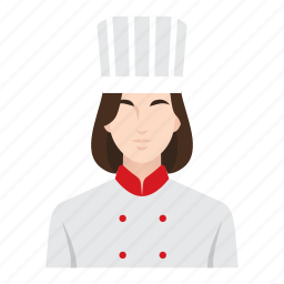 chef, cooking, food, job, occupation, restaurant, woman icon