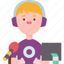 streamer, live, online, gamer, broadcasting icon