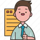 contractor, company, agency, dealer, document icon