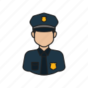 job, occupation, police, profession icon