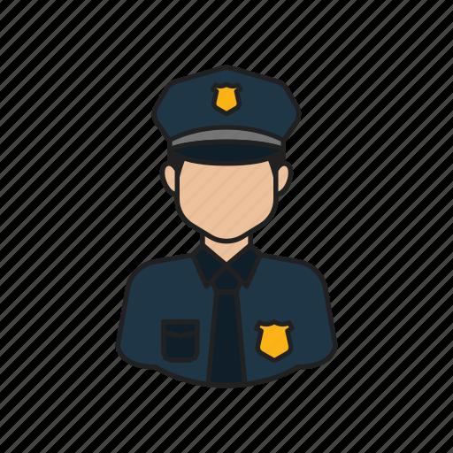 job, occupation, police, profession icon