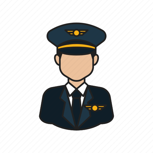 job, occupation, pilot, proffession icon