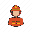 fire, fireman, job, man, occupation, profession icon