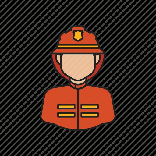fire, fireman, job, man, occupation, profession icon