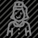 avatar, nurse, woman, profile
