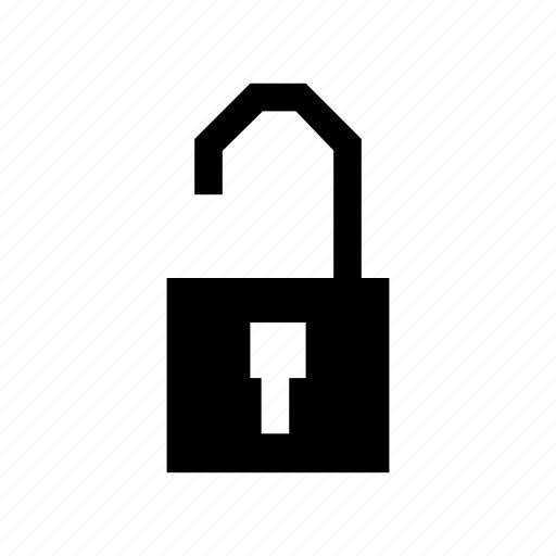 key, lock, open, private, secure, security, unlock icon