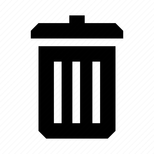 bin, delete, remove, throw away, trash icon