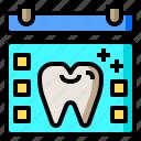 agenda, dental, dentist, health, medical, odontologist, tooth