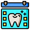 agenda, calendar, dental, dentist, healthcare, odontologist, teeth