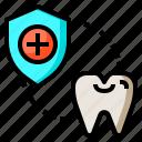 dentist, healthcare, odontologist, protection, shield, teeth icon