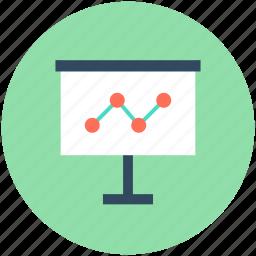 analytics, graph board, graph presentation, line graph, statistics icon