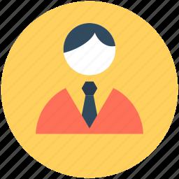 accountant, businessman, businessperson, man, receptionist icon