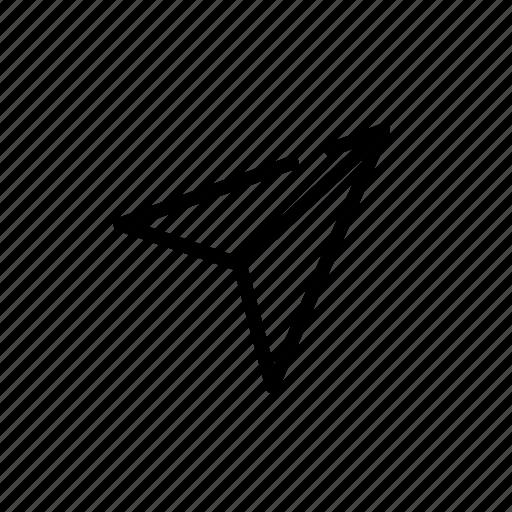 aim goal origami paper plane prototype target icon