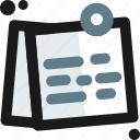 business, calendar, office, post it, postit, reminder, tasks icon