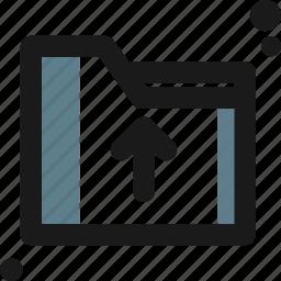 arrow, business, folder, office, up icon