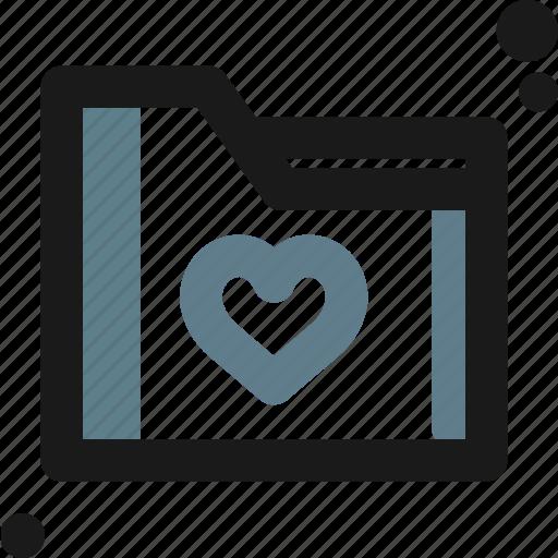 business, favorite, folder, heart, like, office icon