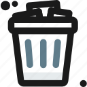 bin, business, office, recycle, rubbish, trash, waste icon