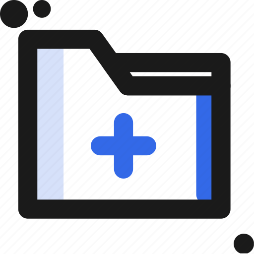 add, file, folder, organize, save icon