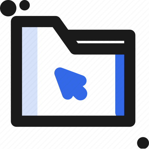 click, file, folder, organize, save icon