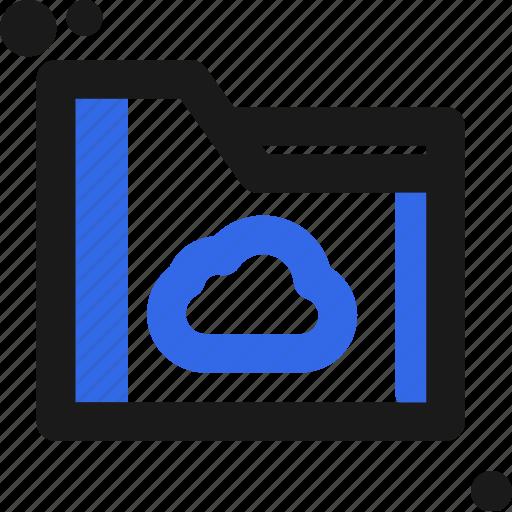 cloud, file, folder, organize, save icon